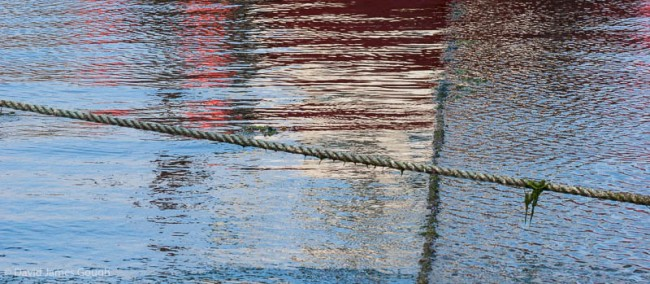 Reflections in a harbour