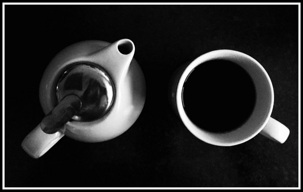Tea pot and mug of tea